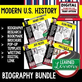 Thomas Edison Biography Research, Bookmark Brochure, Pop-Up, Writing, Google