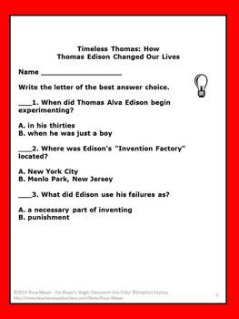 Timeless Thomas: How Thomas Edison Changed Our Lives