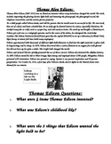 Thomas Edison Biography and 5 questions
