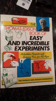 Thomas Edison Book of Easy and Incredible Experiments - EUC! EAXL