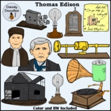 Thomas Edison Clip Art by Dandy Doodles