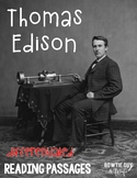 Thomas Edison {Differentiated Reading Passages & Comprehension Questions}