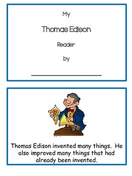 Emergent Reader Thomas Edison