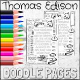Thomas Edison Famous Failures Coloring DOODLE PAGES!