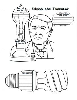 Thomas Edison Guided Reading Packet