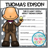 Thomas Edison...Informational Text and Activities
