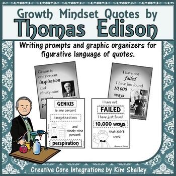 Thomas Edison Inspirational Quote Prompts
