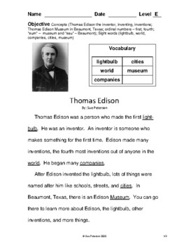 Thomas Edison - Inventor