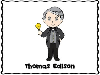 thomas edison inventor teaching resources teachers pay teachers rh teacherspayteachers com  thomas edison inventions clipart