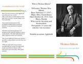 Thomas Edison Inventor Pamphlet - Model