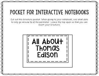 Thomas Edison - Inventor Research Project Interactive Notebook, Scientist