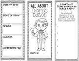 Thomas Edison - Inventor Research Project Interactive Note