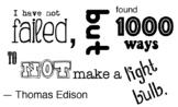 Thomas Edison - Light Bulb Quote