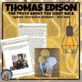 Thomas Edison Light Bulb Shape Book  Informational Text &