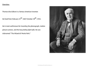 Thomas Edison - Power Point Full life story inventions facts pictures