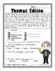 Thomas Edison Reading Passage