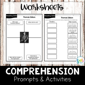 Thomas Edison Reading and Writing Activity (SS5H1, SS5H1b)
