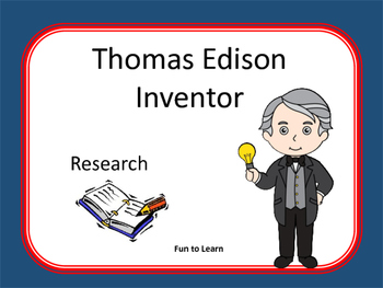 Thomas Edison ~ Research