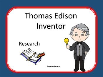 Thomas Edison ~ Research