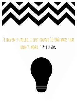 Thomas Edison STEM Growth Mindset Poster