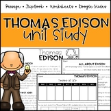 Thomas Edison Unit: Passage, Comprehension, and Flipbook