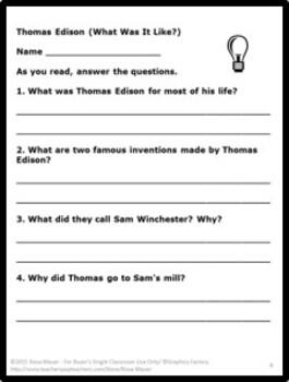 Thomas Edison What Was It Like?