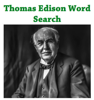 Thomas Edison Word Search