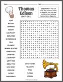 Thomas Edison Word Search Puzzle