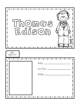 Thomas Edison Writing Tab Book