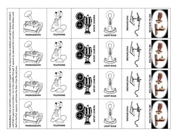 Thomas Edison and Alexander Graham Bell's Inventions - Foldable