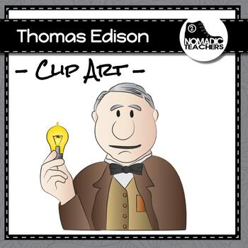 thomas edison and his inventions clip art 10 pngs by 2 nomadic rh teacherspayteachers com Thomas Edison Poster Thomas Edison Phonograph Records