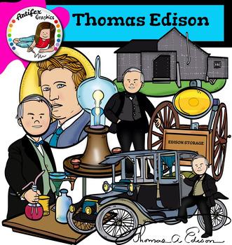 Thomas Edison clip art