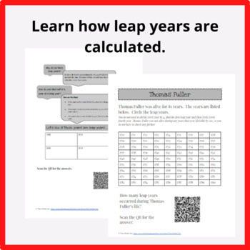 Thomas Fuller, The Virginia Calculator.  Black History Month, Leap Year Activity