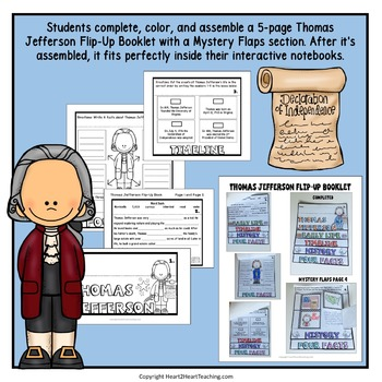 American President: Thomas Jefferson Unit with Articles, Activities & Flip Book