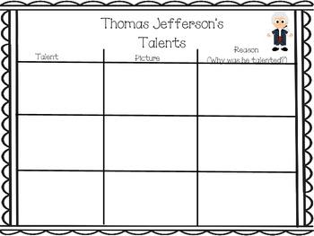 Thomas Jefferson Activities