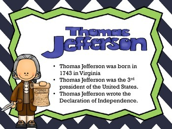Thomas Jefferson Activity Pack
