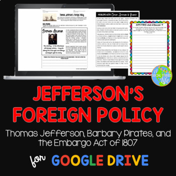 Thomas Jefferson, Barbary Pirates, and the Embargo Act of 1807