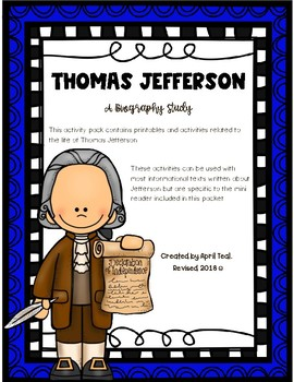 Thomas Jefferson Biography Study
