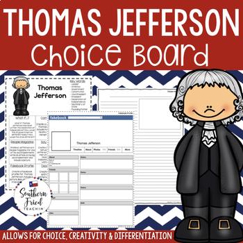 US Presidents - Thomas Jefferson Choice Board