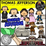Thomas Jefferson Clip Art Bundle {Educlips Clipart}