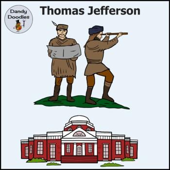 Thomas Jefferson Clip Art by Dandy Doodles