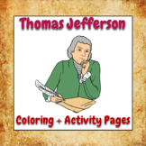 Thomas Jefferson Coloring and Activity Book Pages - Good f