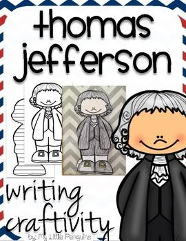 "Thomas Jefferson ""Craftivity"" Writing page (President)"