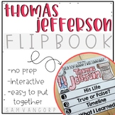 Thomas Jefferson Flip Book PLUS Colored Poster & Student Coloring Page