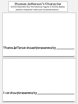 Thomas Jefferson Graphic Organizer Set