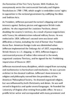 Thomas Jefferson Handout