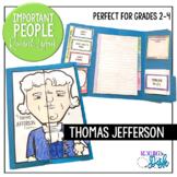 Thomas Jefferson Important People Research Lapbook