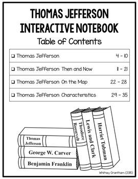Thomas Jefferson Interactive Notebook (1st Grade)