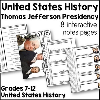 Thomas Jefferson Interactive Notes Pages