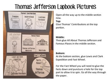 Thomas Jefferson Lapbook by Creatively Crazy With Learning